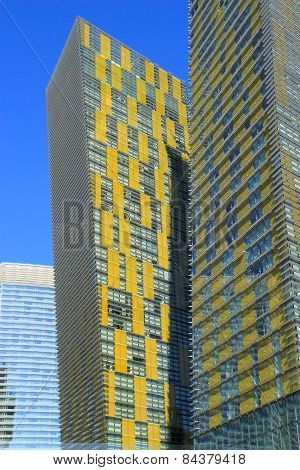 Las Vegas, Usa - March 19: Closeup Of Veer Twin Residential Towers On March 19, 2013 In Las Vegas, U