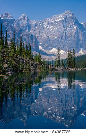 Shoreline Of Moraine Lake