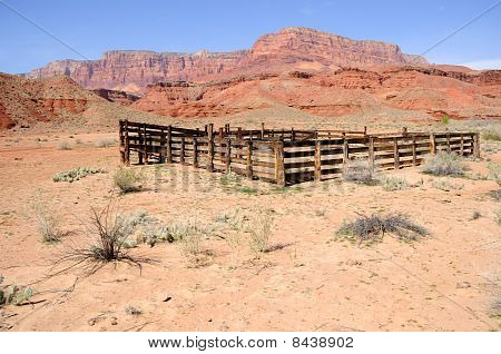 Historic Corral at Lonely Dell Ranch in Northern Arizona