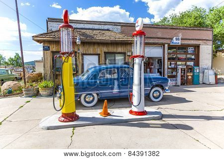 Old Retro Filling Station In Williams