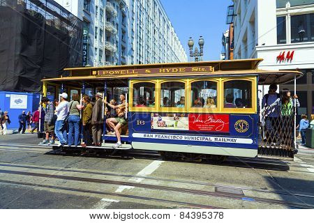 Famous Cable Car In San Francisco