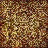 An abstract image of an intricate symmetrical pattern perfect as a background image. poster