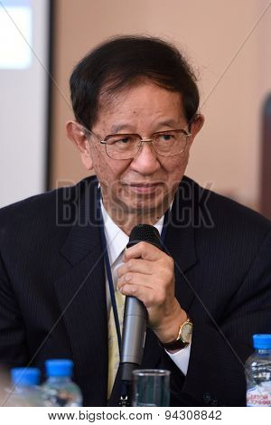 ST. PETERSBURG, RUSSIA - JUNE 22, 2015: Nobel Prize Laureate in chemistry Yuan Tseh Lee during Saint Petersburg scientific forum