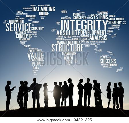 Integrity Honesty Sincerity Trust Reliability Concept poster