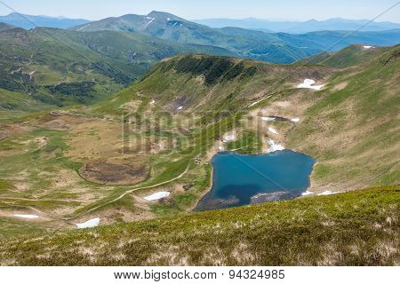View From The Mountaintop - Amazing Valley With Lake