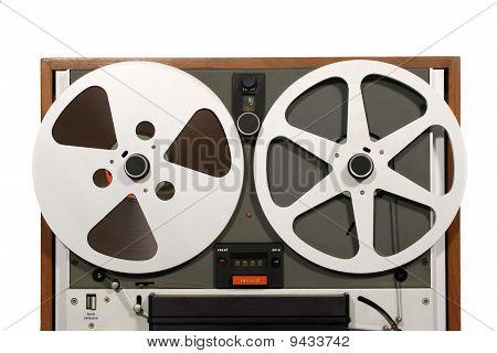Classic Retro Open Reel Tape Recorder Close poster