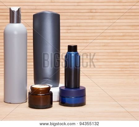 Laconic Set Of Skin And Body Care Cosmetics For Men