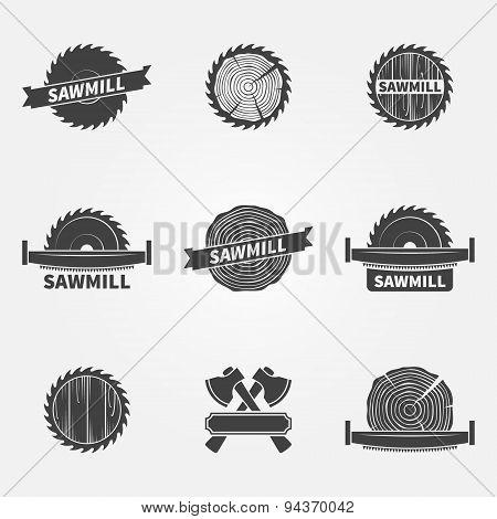 Sawmill logo or label