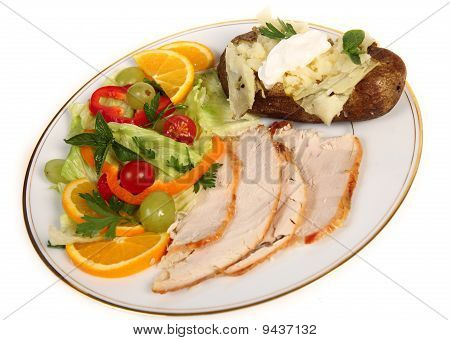 Cold Turkey And Salad