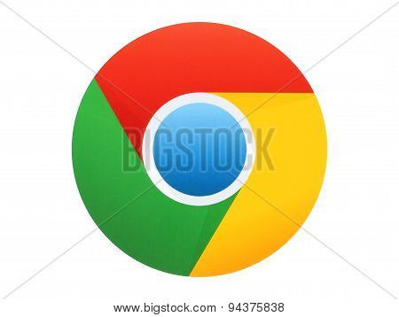 KIEV UKRAINE - APRIL 27 2015:Google Chrome logo