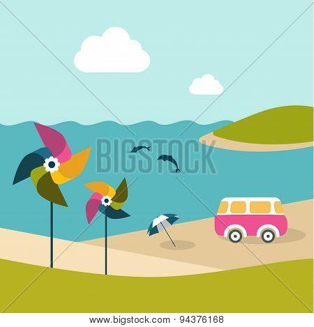 Summer Beach Island.