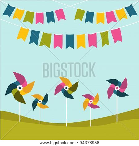 Festival, Party Birthday Poster.