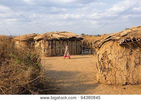Village Of Masai Tribe