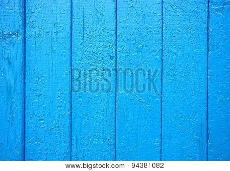 Blue Paint On Wood