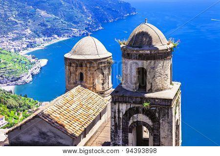 beautiful scenery of Amalfi coast, Ravello village