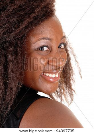 Head Shoot Of African Woman.