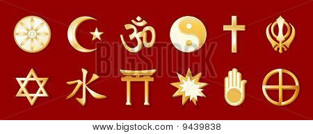World Religions, Red Background