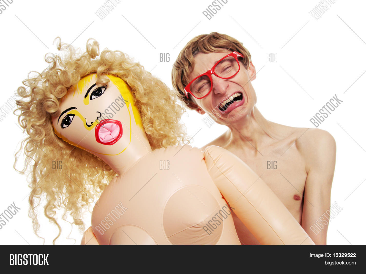 Girls having sex with blow up dolls