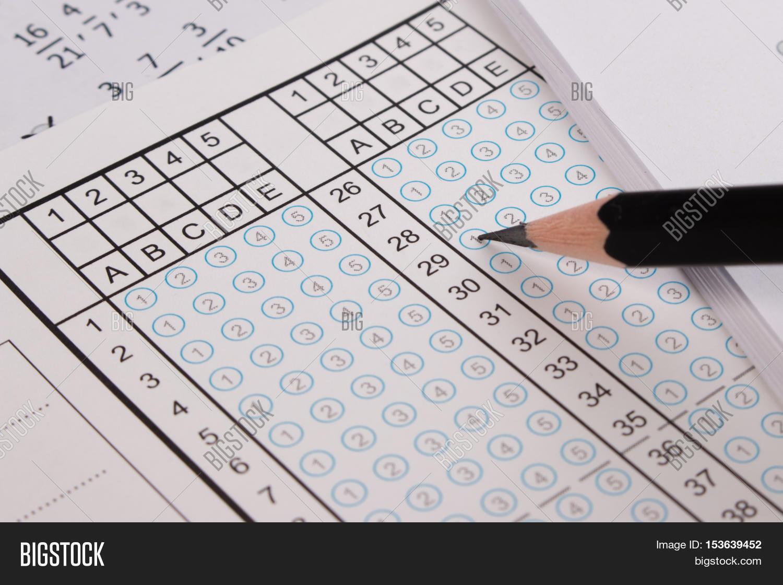 Standard Test Form Image Photo Free Trial Bigstock