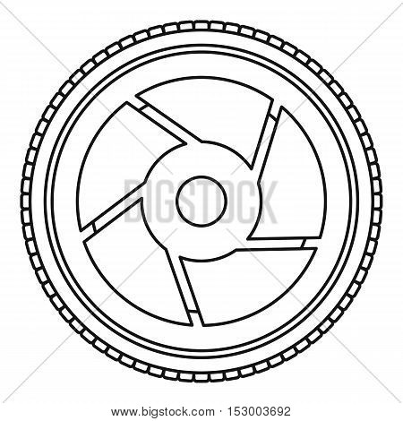 Camera aperture icon. Outline illustration of camera aperture vector icon for web