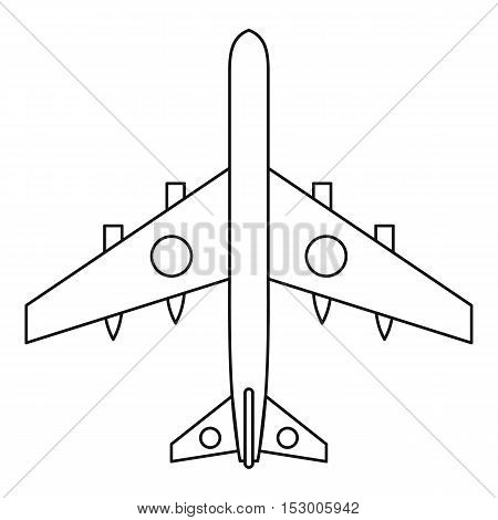 Military fighter plane icon. Outline illustration of military fighter plane vector icon for web