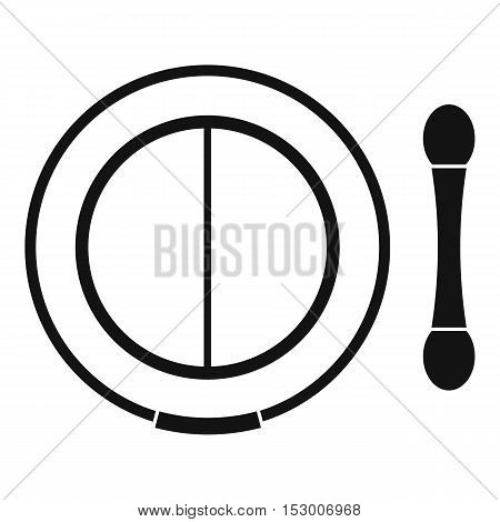 Shadow kit with applicator icon. Simple illustration of shadow kit with applicator vector icon for web