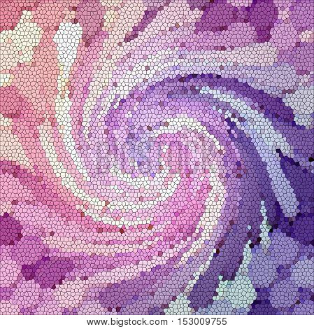 Abstract coloring background of the abstract gradient with visual illusion,mosaic,pinch,stained glass and twirl effects