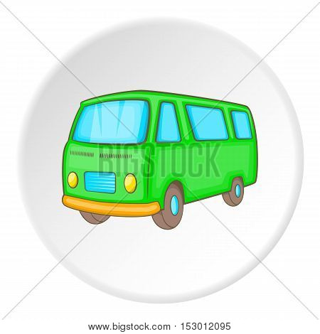 Minibus icon. Isometric illustration of minibus vector icon for web