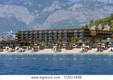 Beach and coastline near Kemer, Turkey
