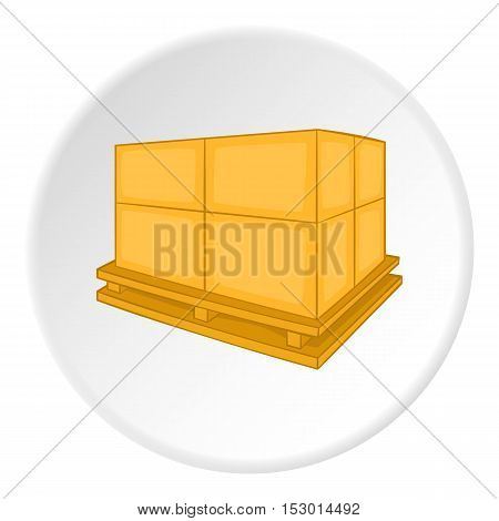 Pallet icon. Isometric illustration of pallet vector icon for web