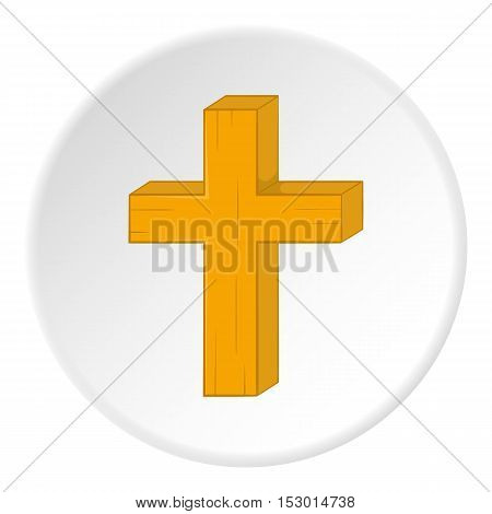 Religion cross icon. Cartoon illustration of religion crossvector icon for web
