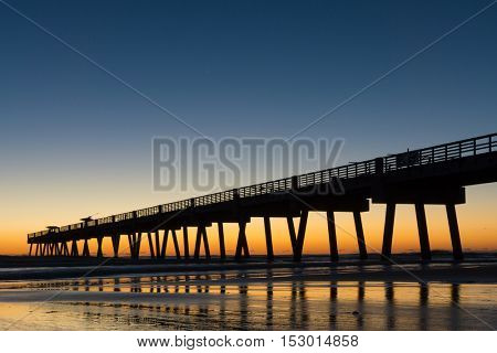 Jacksonville Beach, Florida Pier at Sunrise