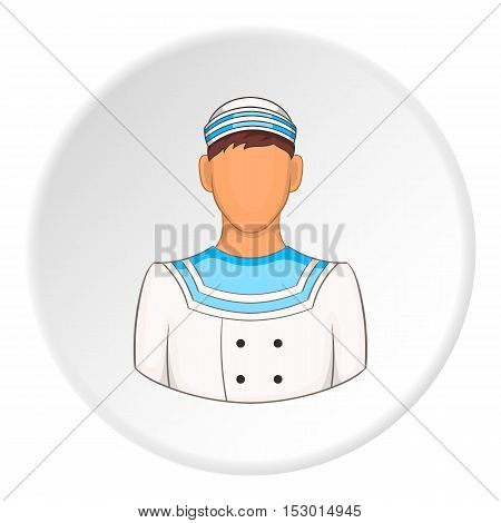 Sailor icon. Flat illustration of sailor vector icon for web