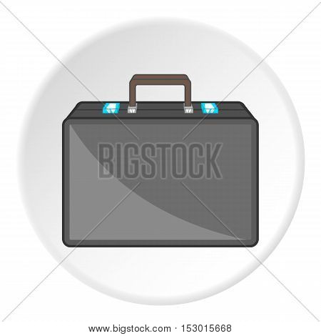 Briefcase icon. Cartoon illustration of briefcase vector icon for web