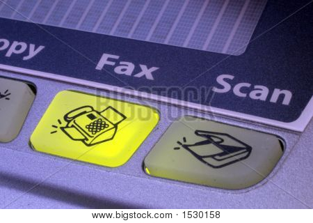 Fax Button Of Fax Machine