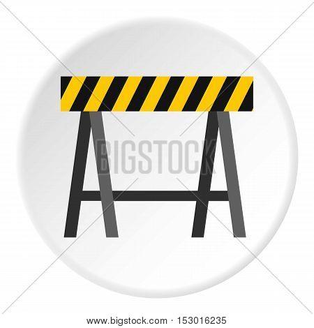 Prohibitory road sign icon. Flat illustration of prohibitory road sign vector icon for web