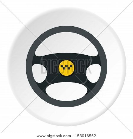 Steering wheel of taxi icon. Flat illustration of steering wheel of taxi vector icon for web