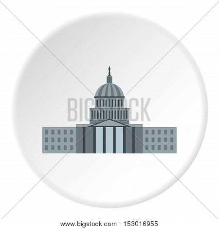 Capitol icon. Flat illustration of capitol vector icon for web