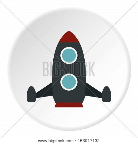Rocket flies icon. Flat illustration of rocket flies vector icon for web