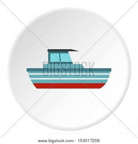Motor boat icon. Flat illustration of motor boat vector icon for web