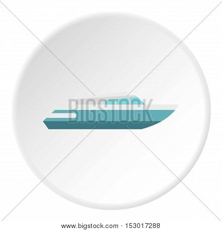 Planing powerboat icon. Flat illustration of planing powerboat vector icon for web
