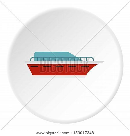 Powerboat icon. Flat illustration of powerboat vector icon for web