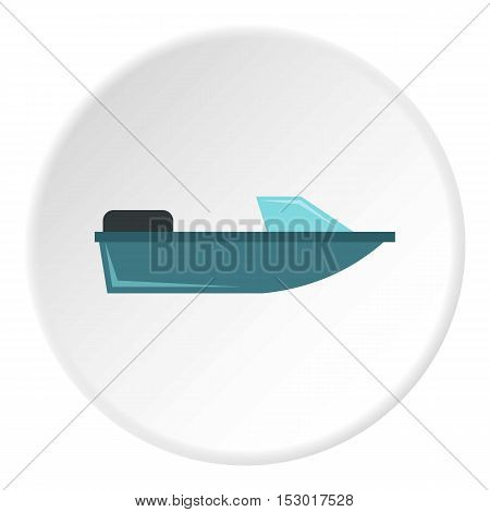 Sports powerboat icon. Flat illustration of sports powerboat vector icon for web
