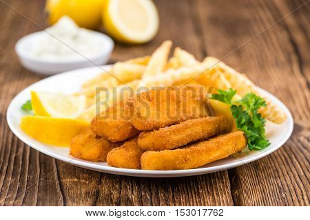 Some Fried Fish Sticks (selective Focus)