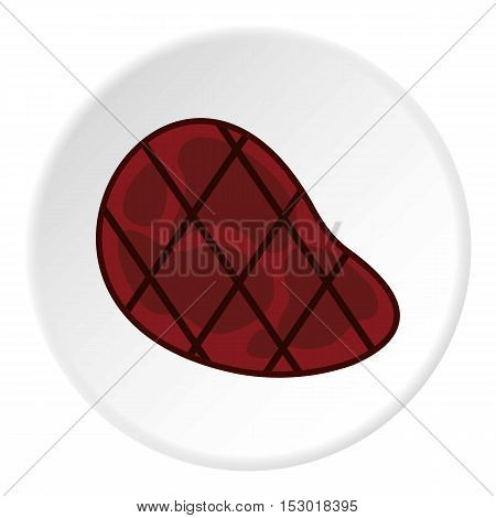 Grilled steak icon. Flat illustration of grilled steak vector icon for web