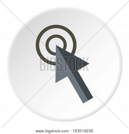 Cursor arrow clicks icon. Flat illustration of cursor arrow clicks vector icon for web