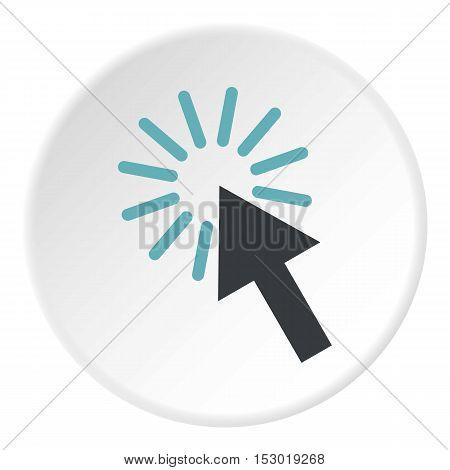 Cursor arrow icon. Flat illustration of cursor arrow vector icon for web