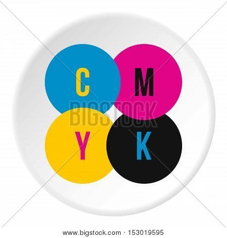 CMYK color profile icon. Flat illustration of CMYK color profile vector icon for web