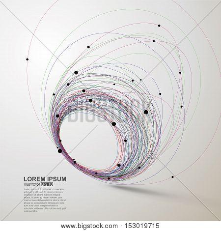 Abstract swirls, vector illustration, abstract illustration design.