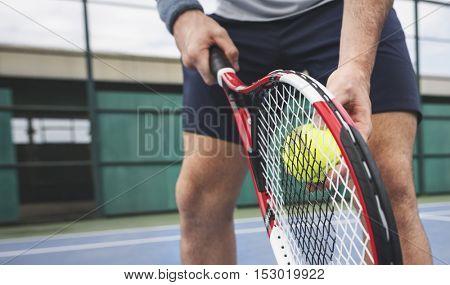 Tennis Sport Racket Racquet Athlete Match Concept